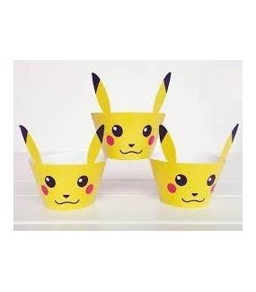 Pikachu Cupcake Wrappers & Toppers