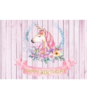 Unicorn Backdrop G Personalised