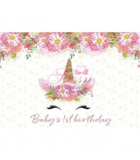 Unicorn backdrop E Personalised