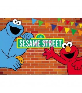 Elmo & Cookie Monster Backdrop