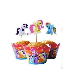 My Little Pony Cupcake Wrappers & Toppers