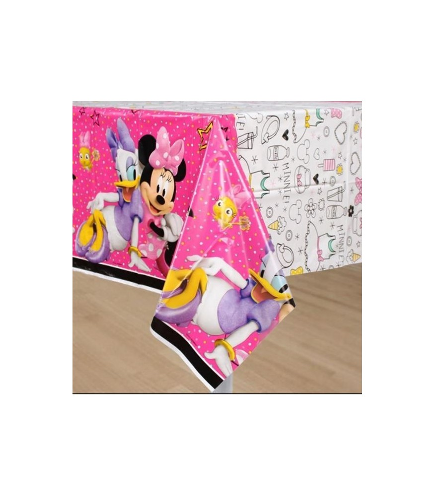 sc 1 st  Sassy Party Hire & Minnie Mouse Happy Helpers Tablecover