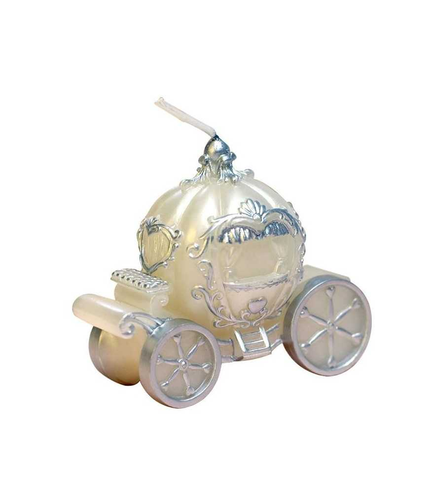 Pumpkin Carriage Smokeless Candle (White)