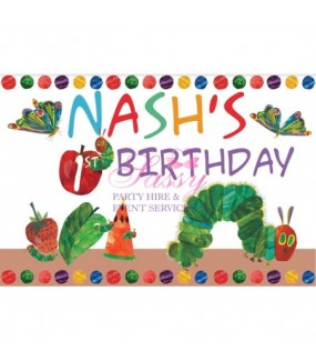 The Very Hungry Caterpillar Backdrop (Personalised)