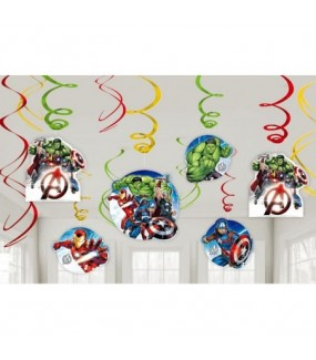 Avengers Epic Swirl Decorations