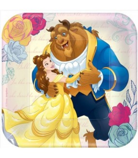 Beauty & The Beast Lunch Plates