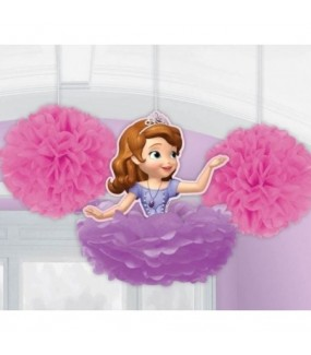 Sofia The First Honeycomb Decorations