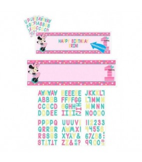 Minnie Mouse Fun To Be One Personalised Giant Banner Kit