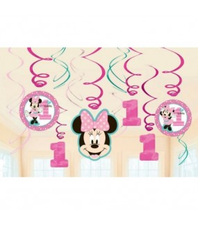 Minnie Mouse - Fun to Be One swirl Decorations