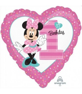 Minnie Mouse - Fun to Be One Love Heart Foil Balloon