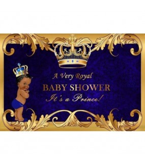 Baby Shower backdrop (Prince/Boy)