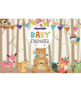 Baby Shower/Woodland Backdrop