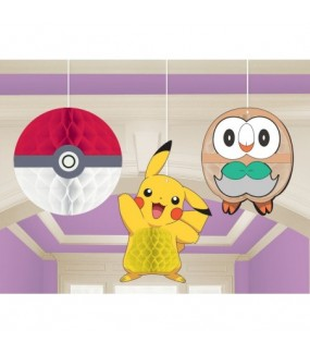 Pokemon Hanging Honeycomb Decorations
