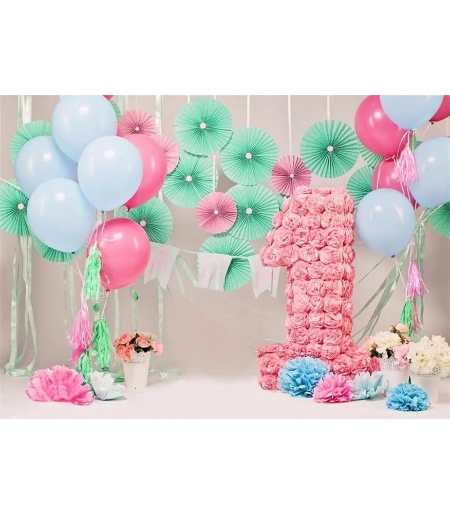First Birthday Cake Smash Backdrop
