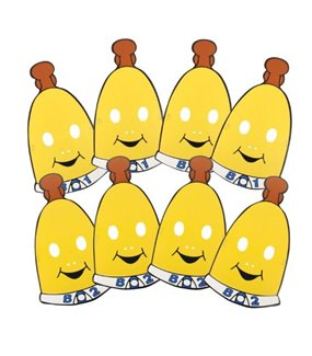 Bananas in Pyjamas Paper Face Mask