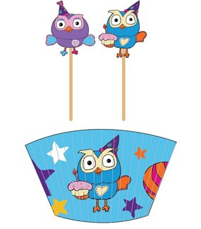 Giggle & Hoot Cupcake Cases and Picks