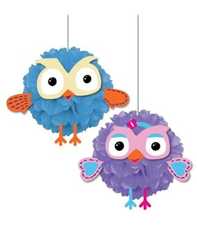 Giggle & Hoot Fluffy Decoration With Cutout