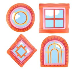 Play School Window Cutouts