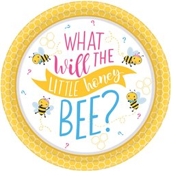 What Will it Bee? Lunch Round Plates