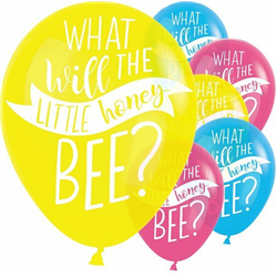 What Will it Bee? Latex Balloons Assorted Colours