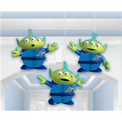 TOY STORY 4 HANGING HONEYCOMB DECORATIONS