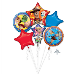 TOY STORY 4 5 BALLOON BOUQUET