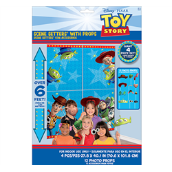 TOY STORY 4 WALL DECORATING KIT WITH PROPS