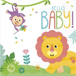 HELLO BABY LUNCH NAPKINS