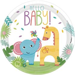 HELLO BABY LUNCH PLATES