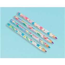 MULTI SHAPE COLOURED PENCIL FAVOR