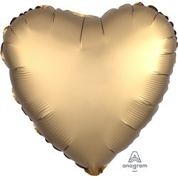 GOLD SATEEN HEART FOIL BALLOON