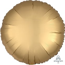 GOLD SATEEN CIRCLE FOIL BALLOON