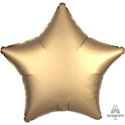 GOLD SATEEN STAR FOIL BALLOON