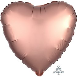 ROSE COPPER HEART FOIL BALLOON