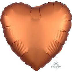 AMBER HEART FOIL BALLOON