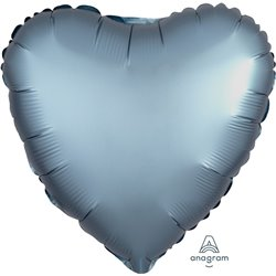 STEEL BLUE HEART FOIL BALLOON