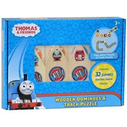 WOODEN DOMINOES & TRACK PUZZLE