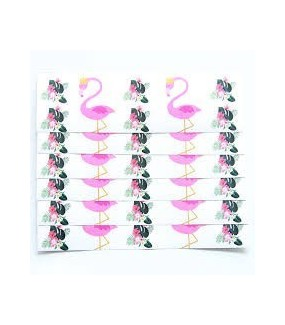 Flamingo Drink Bottle Labels